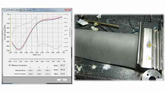 Turbine blade residual stress measurements