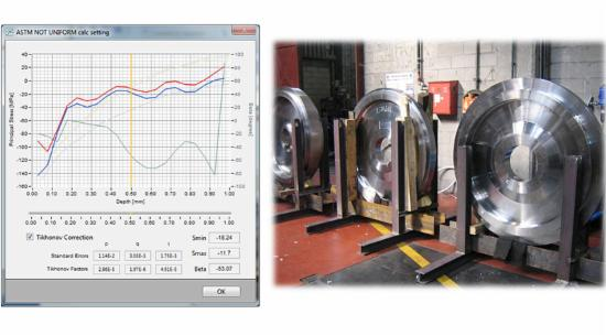 Heat treatment residual stress measurements